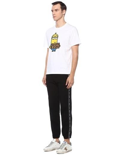 Mhrs Mhrs 101542325 8Bit by Mhrs 3D Figür Baskılı Erkek Basic Tshirt Beyaz